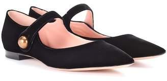 Rochas Velvet ballerinas