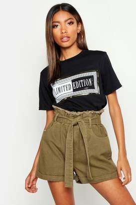 boohoo Limited Edition Foil Print T-Shirt