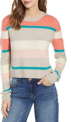 Cotton Emporium Multi Stripe Crop Sweater