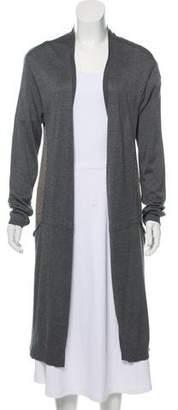 Max Mara Weekend Silk-Wool Open Front Cardigan