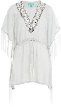 TAJ Embellished Cotton Fringe Tunic