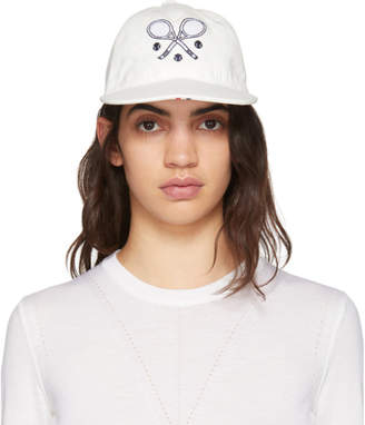 Thom Browne White Tennis Racket Icon Five-Panel Baseball Cap