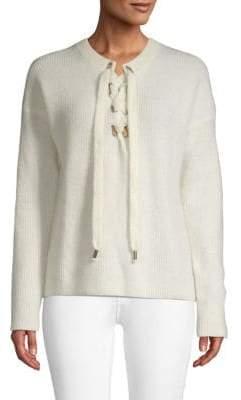 Maje Lace-up Sweater