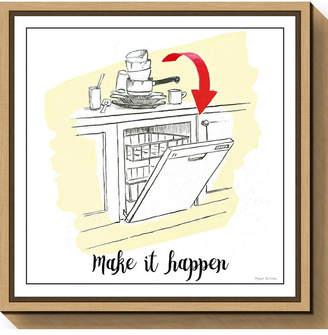 Amanti Art Home Improvement V Dishes by Myles Sullivan Canvas Framed Art