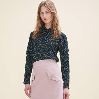Maje Floral-print blouse