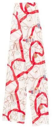 Burberry Silk-Blend Printed Scarf