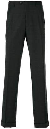 Brioni checked trousers