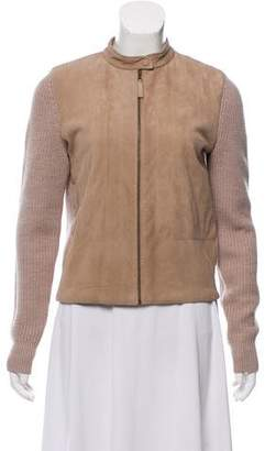 Tory Burch Suede-Accented Wool Jacket