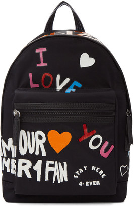 Kenzo Black Limited Edition 'I Love You' Backpack $235 thestylecure.com