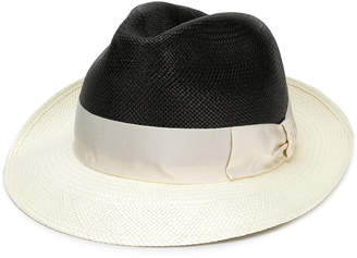 Borsalino Bi-colour panama hat