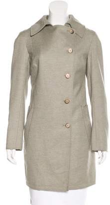 Roland Mouret Single-Breasted Wool Coat