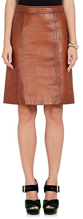 Prada Women's Leather A-Line Skirt