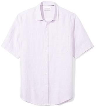 Amazon Essentials Men's Regular-Fit Short-Sleeve Linen Shirt