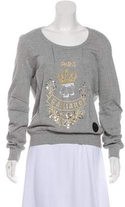 John Galliano Embellished Long Sleeve Top