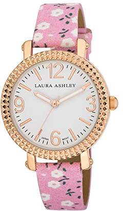 Laura Ashley Women's LA31005PK Analog Display Japanese Quartz Pink Watch $37.40 thestylecure.com