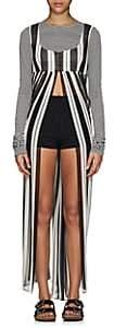Marc Jacobs Women's Striped Silk Maxi Dress - Black Pat.