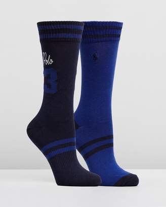 Polo Ralph Lauren Polo Chain Stitch Rugby Socks 2-Pack