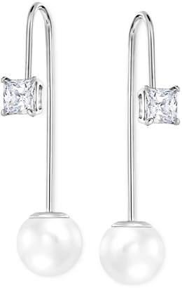 Swarovski Imitation Crystal Pearl Linear Drop Earrings