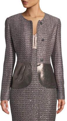 St. John Twisted Sequin Knit Jacket