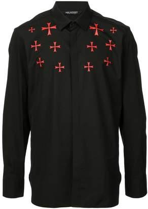 Neil Barrett cross motif shirt