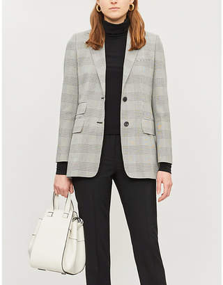Max Mara Angelo checked cotton blazer