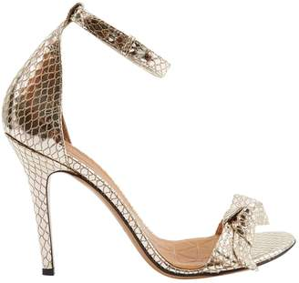 Isabel Marant Gold Patent leather Heels