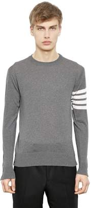 Thom Browne Intarsia Stripes Merino Wool Sweater