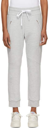 Baja East Grey Logo Moto Lounge Pants