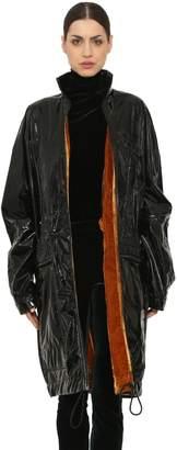 Haider Ackermann Vinyl Raincoat W/ Velvet Lining