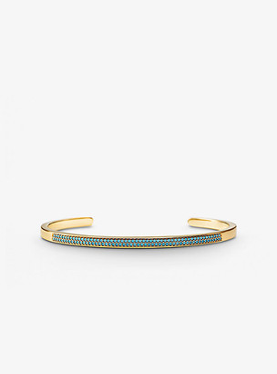 Michael Kors 14k Gold-Plated Sterling Silver PavA Nesting Cuff
