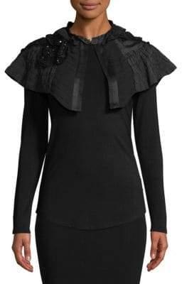 Dries Van Noten Floral Cape Bodycon Silk Dress