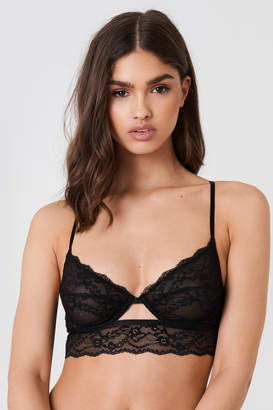 Na Kd Lingerie Cut Out Lace Cup Bra Black