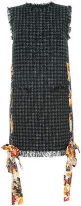 MSGM tweed shift dress