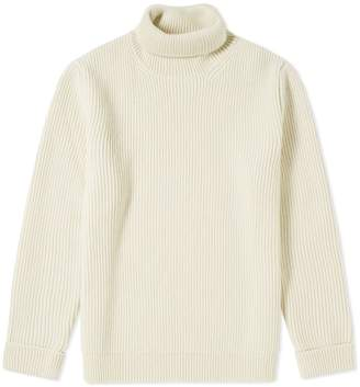 Maison Margiela Rib Mock Neck Crew Knit