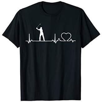 Golf Ecg Heartbeat T-Shirt I Love Golf Tee Golfing T-Shirt