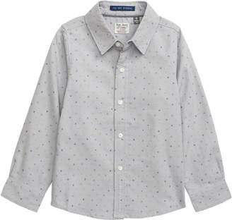 Charli Rebel James & Mini Geo Woven Button-Up Shirt