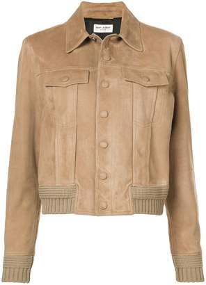 Saint Laurent boxy buttoned jacket