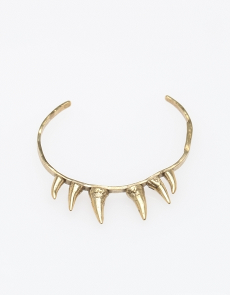 K/LLER Collection Brass 6 Stalactite Cuff