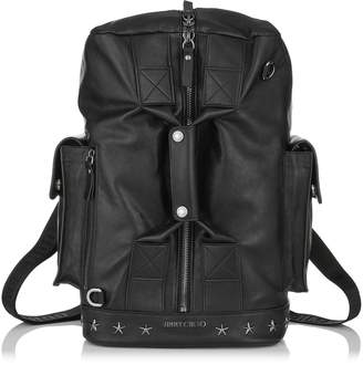 Jimmy Choo ARLO Black Biker Leather Holdall