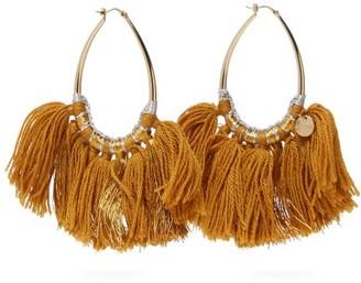Missoni Tasselled Lurex Hoop Earrings - Womens - Gold