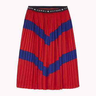 Tommy Hilfiger Pleated Colour-Blocked Skirt