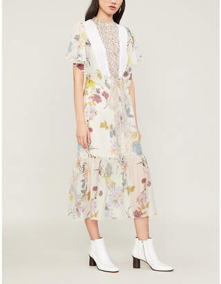 See by Chloe Floral Patchwork organdy dress