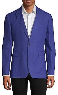 da382b44b2 Burberry Men s Slim Fit Linen Unlined Blazer