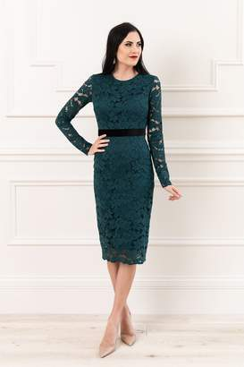 Rachel Parcell Emerald Lace Dress