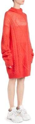 Maison Margiela Cable-Knit Turtleneck Sweater Dress