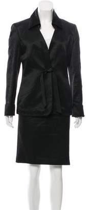 Nina Ricci Silk-Blend Notched-Lapel Skirt Suit