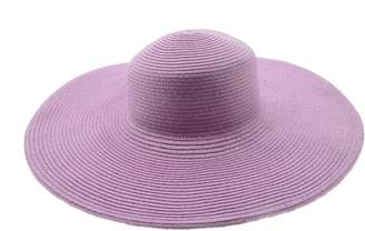 LJL Design Wide Women Colorful Derby Large Floppy Folderable Straw Beach Hat