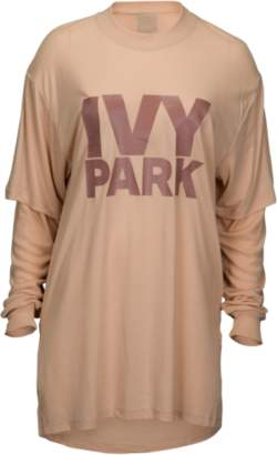 Ivy Park Fishnet Jacquard Crop Long Sleeve - Women's