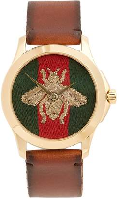 Gucci Bee-embroidered watch