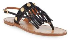 Valentino Tassel Leather Thong Sandals
